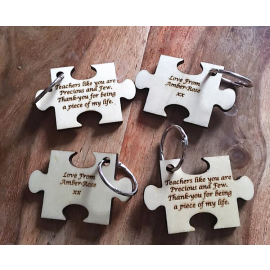 Teacher Jigsaw Keyring